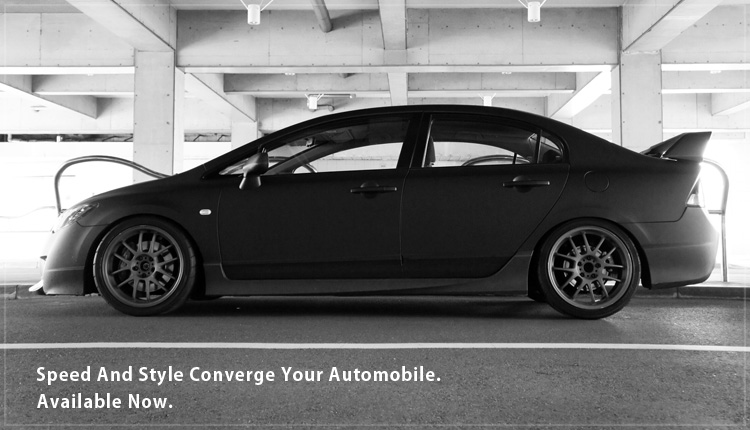 Speed And Style Converge Your Automobile. Available Now.